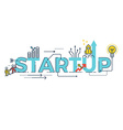Business Startup word design vector image