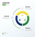 Circle infographic green blue yellow vector image