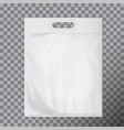 empty white blank plastic bag mock up isolated vector image