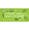Front end Development Banner Concept vector image