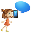 Girl with cell phone vector image