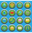 internet web glossy icons set vector image