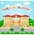 school building for back to school vector image