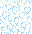 seamless pattern with balloons of different shapes vector image