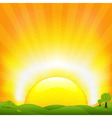 Sunset And Field vector image