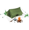 Tent and campfire vector image