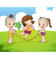 Traditional Thai boyand girl are playing vector image