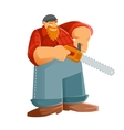 Woodcutter vector image