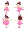 set of isolated girl ballerina vector image vector image