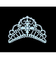 feminine wedding diadem crown on black vector image vector image