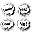 expressions in speech bubbles vector image vector image
