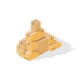 box tower isometric vector image vector image