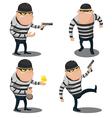 Big Thief Steal Cartoon Character vector image