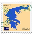 mail to-from Greece vector image