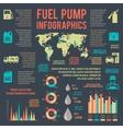 Auto gasoline service infographics vector image