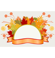 Colorful frame with autumn leaves vector image