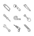 constructions tools icon set vector image