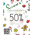 Discount 50 Discounts price tag Black Friday vector image