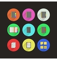 Flat icons for notebooks vector image