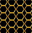 Golden honey cell background vector image