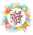 hand lettering summer phrase - my heart vector image