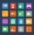home electronic device icon flat icons set for vector image