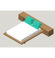 Isometric home furniture - bed Interior element vector image