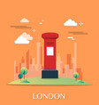 red post office in london design vector image