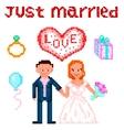Wedding Pixelart vector image