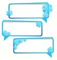 Winter sticker in the form of an empty frame for vector image vector image