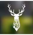 Concept silhouette of deer head with text inside vector image vector image