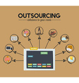 Outsourcing design vector image