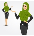 arabic business woman showing something vector image