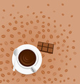 coffee with chocolate vector image