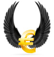 Flying euro vector image vector image