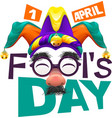 Funny glasses nose April Fools Day lettering text vector image