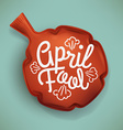 April Fool Fart Cushion vector image
