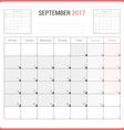 Calendar Planner for September 2017 vector image