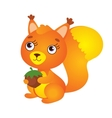 Cute Squirrel With Nut vector image