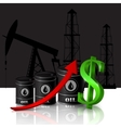 oil barrel with red arrow vector image