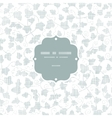 sylver ivy textile texture frame seamless pattern vector image