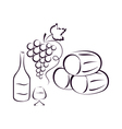Wine composition vector image