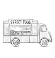 Hand drawn food truck vector image