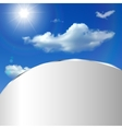 Abstract background with sky sun and clouds vector image vector image