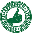 Grunge approved rubber stamp vector image