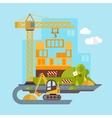 Construction Site Building Flat vector image