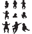 children silhouettes vector image vector image