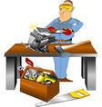 super toolbox vector image vector image