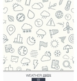 Weather wallpaper Black and white meteorology vector image vector image