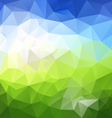 horizontal landscape blue sky green polygon vector image